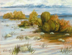 Mission Bay, Traverse City, Painting, Oil on Canvas
