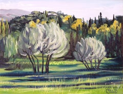 Olive Trees, Fiesole, Painting, Oil on Canvas