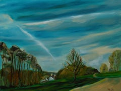 Country Skies, Painting, Oil on Canvas