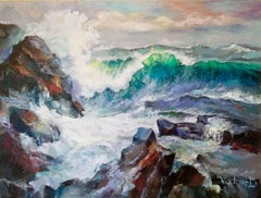 Ocean waves, Painting, Oil on Canvas