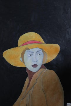 woman hat, Painting, Oil on Canvas