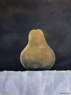 Golden Pear, Painting, Oil on Canvas