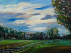 Rustic Country Farm Land, Painting, Oil on Canvas