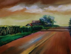 Country Cornfields, Painting, Oil on Canvas