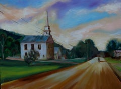 Country Church, Painting, Oil on Canvas
