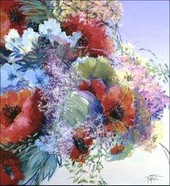 Saga D'Ete, Painting, Acrylic on Canvas