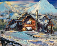 Winter Chalet, Painting, Oil on Canvas