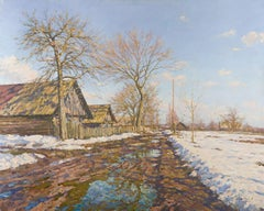 Spring. Countryside. Khoruzhi, Painting, Oil on Canvas