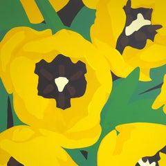 Yellow Tulips, Painting, Acrylic on Canvas