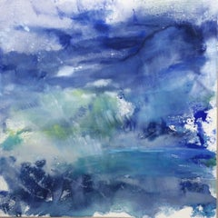 The Blues Will Take You There, Painting, Watercolor on Canvas