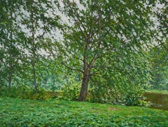 Cloudy Day at the Academic Dacha, Painting, Oil on Canvas