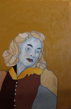 yellow hair, Painting, Oil on Canvas