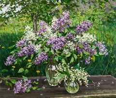 Still Life with Lilacs, Painting, Oil on Canvas