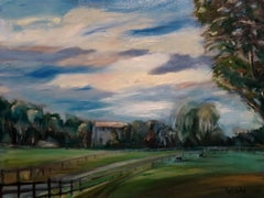 Country Farm, Painting, Oil on Canvas