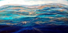 Ocean Aria, Mixed Media on Wood Panel