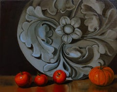 Natures Country ~ Last Harvest, Painting, Oil on Canvas