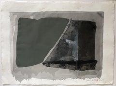 Largo.IV  abstract minimal acrylic painting, Painting, Acrylic on Paper