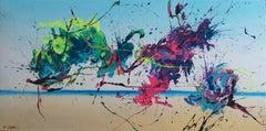 Sky Dance (Spirits Of Skies 128085), Painting, Acrylic on Canvas