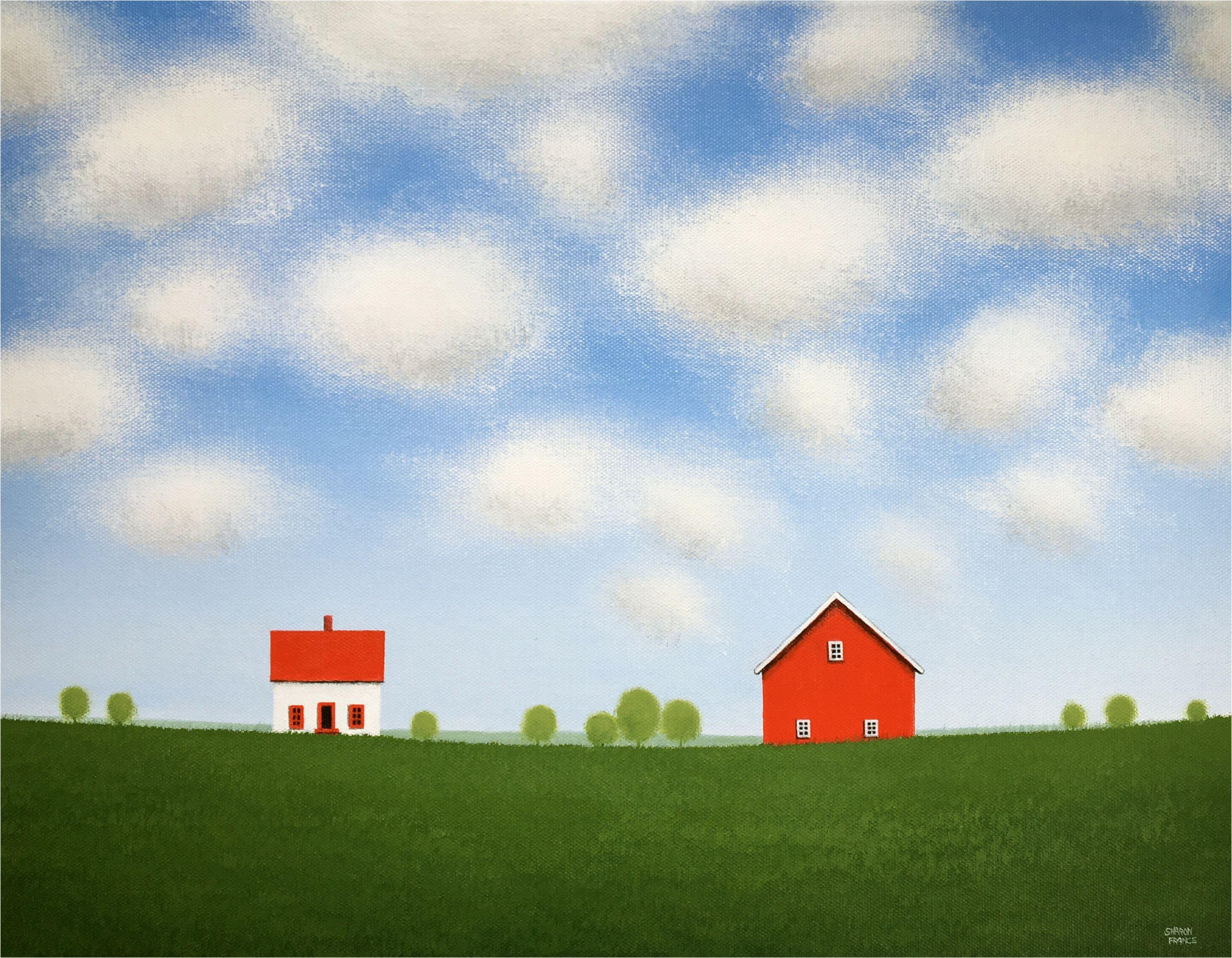 Under a Sky of Summer Clouds, Painting, Acrylic on Canvas