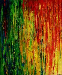 Rainbow Rain, Painting, Acrylic on Canvas