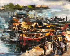 The Boat Dock, Painting, Oil on Canvas