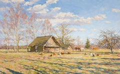 Spring in the Countryside, Painting, Oil on Canvas