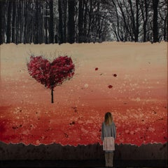 FALL IN LOVE, Mixed Media on Canvas