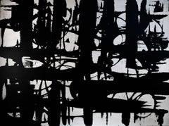"Satin white magic  48"" x 36"", Painting, Acrylic on Canvas"