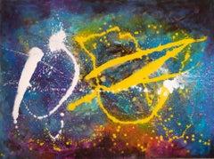 "Intergalactic  48"" x 36"", Painting, Acrylic on Canvas"