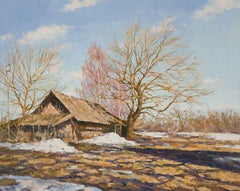 The Snow is Melting, Painting, Oil on Canvas