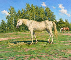 The Old Horse, Painting, Oil on Canvas