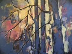 Twilight Tree House, Painting, Acrylic on Canvas