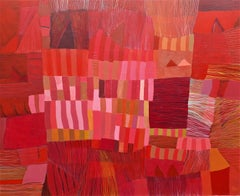 Red Fragments, Painting, Acrylic on Canvas
