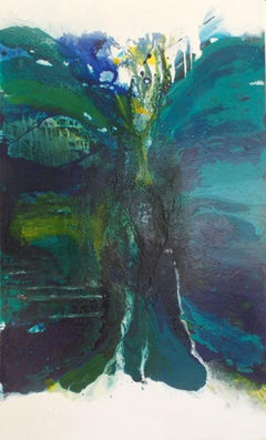 Blue - Green Lagoon 1, Painting, Acrylic on Canvas