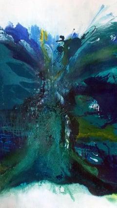 Blue-Green Lagoon 2, Painting, Acrylic on Canvas