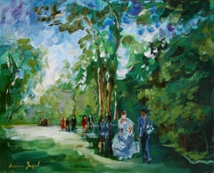 Original oil painting wedding, Painting, Oil on Canvas
