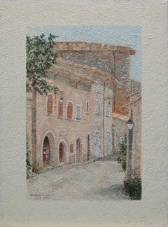 European city scene 4, Painting, Oil on Canvas