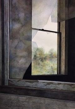 Broken Windows, Painting, Watercolor on Watercolor Paper