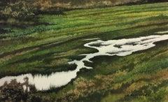 Overflowing Creek, Painting, Watercolor on Watercolor Paper