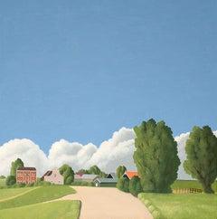 Lekdijk - figurative landscape painting