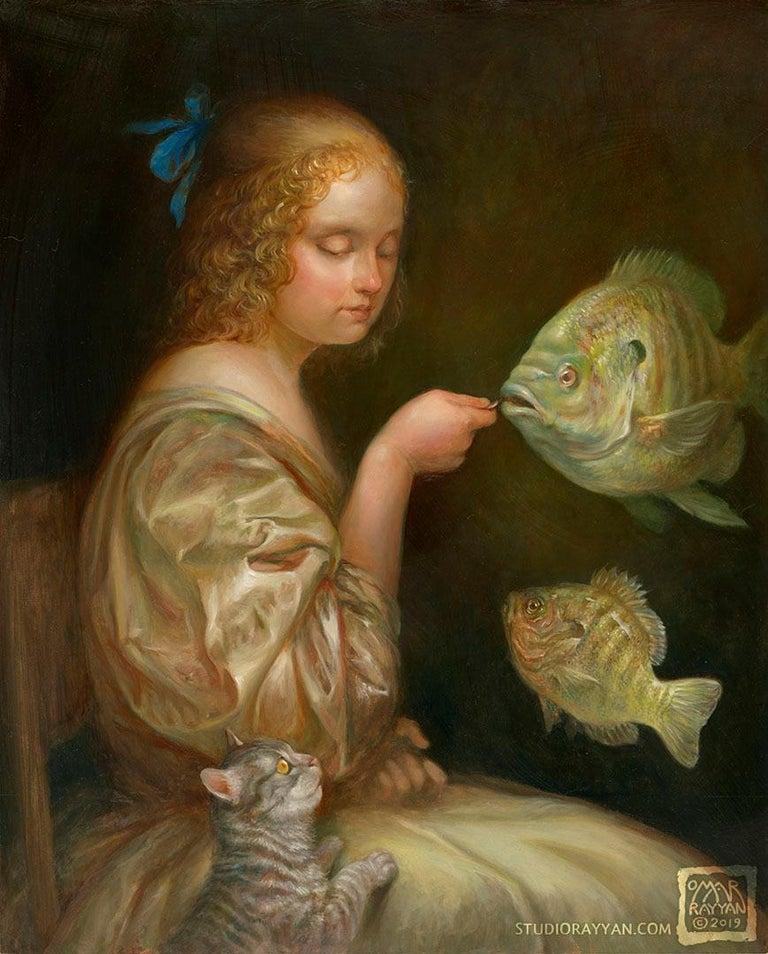 Omar Rayyan - Feeding the Fish For Sale at 1stDibs