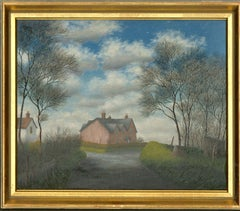 Ronald A. Broad - Framed 1969 Oil, Trees and a House, Sparsholt, Winchester