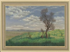 Ronald A. Broad - 1984 Oil, Cissbury Ring, Near Worthing, Sussex
