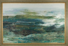 Eliza Andrewes - Large Framed Contemporary Oil, Irish Sea