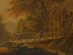 Attrib. John Downman (1750-1824) - Framed Watercolour, Bridge Over the Falls