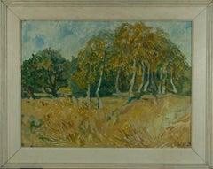 Jon Ellis (b.1951)  - Signed & Framed 20th Century Oil, Impressionist Landscape