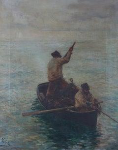 After Hamilton Macallum (1841–1896) - 1911 Oil, Gathering Seaweed