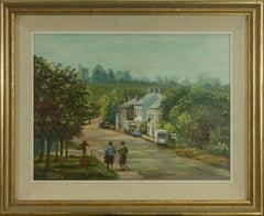 T. Nolan - 20th Century Oil, Village Street Scene