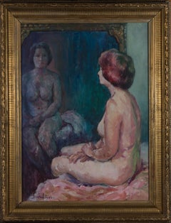 Ronald Dickinson (1916-1985) - Signed & Framed Mid 19th Century Oil, The Mirror