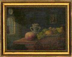 Reg Brown - 20th Century Oil, Still Life of Fruits